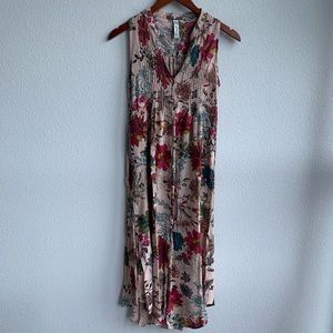 American Rag | Floral Maxi Dress with Slits | S